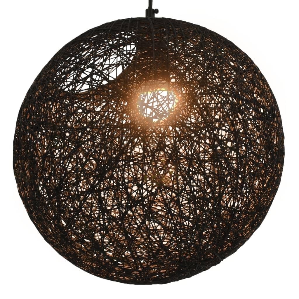 Závěsné svítidlo černé kulové 35 cm E27