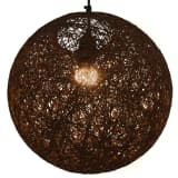 vidaXL Hanging Lamp Brown Sphere 35 cm E27