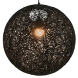 vidaXL Φωτιστικό Κρεμαστό Σφαιρικό Μαύρο 45 εκ. Ε27