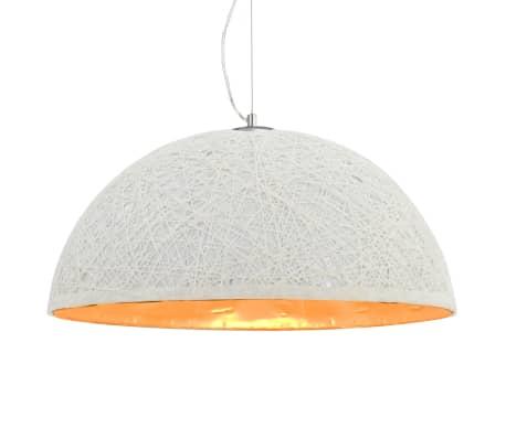 vidaXL Lámpara colgante blanco y dorado E27 Ø50 cm