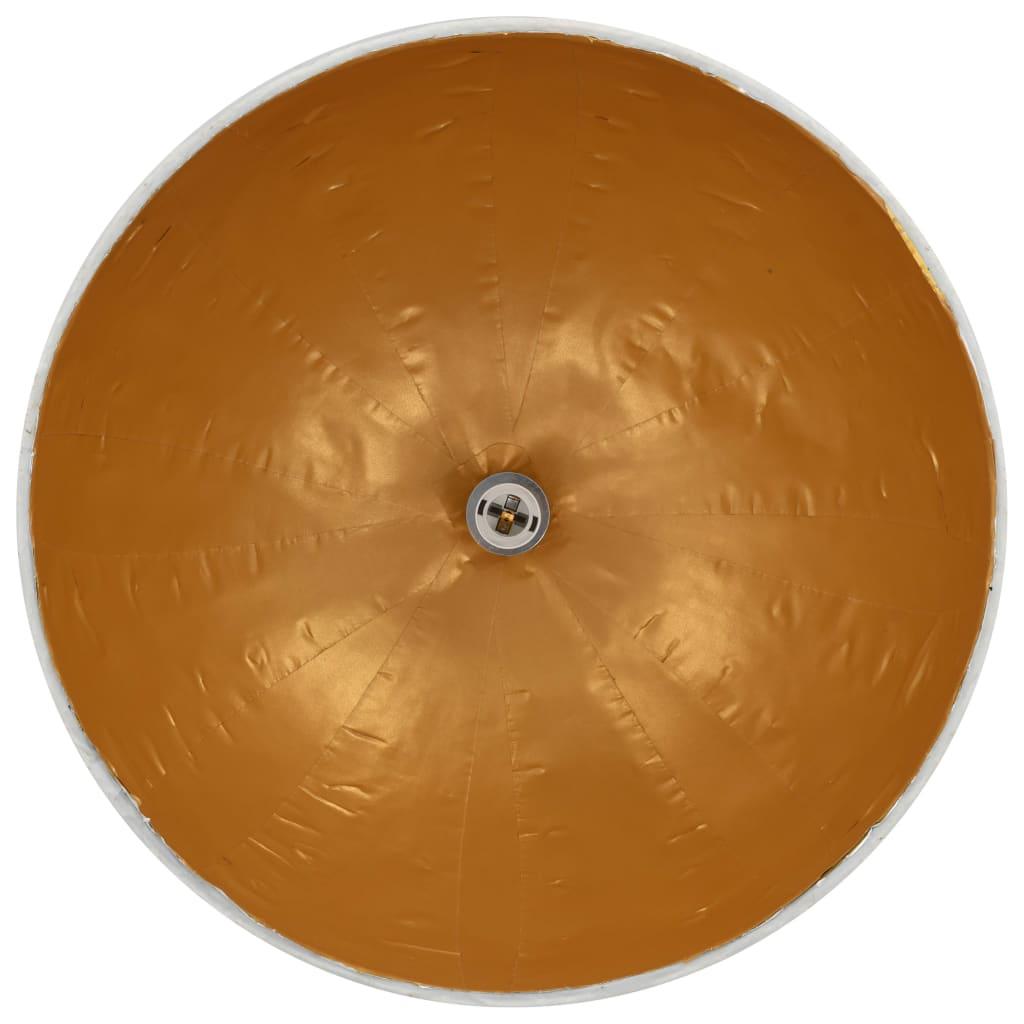 Hanglamp E27 Ø50 cm wit en goud