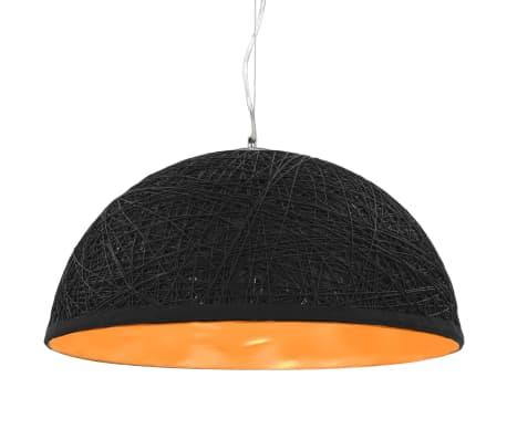 vidaXL Hanglamp E27 Ø50 cm zwart en goud[1/11]