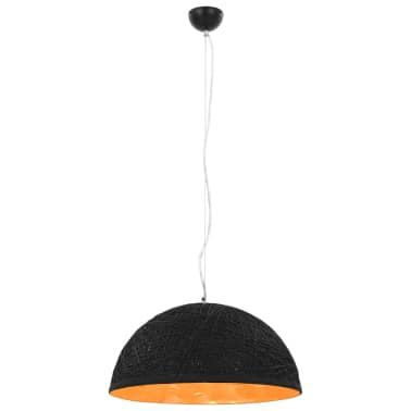vidaXL Hanglamp E27 Ø50 cm zwart en goud[2/11]