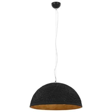 vidaXL Hanglamp E27 Ø50 cm zwart en goud[3/11]