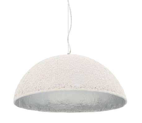 vidaXL Lámpara colgante blanco y plateado E27 Ø70 cm