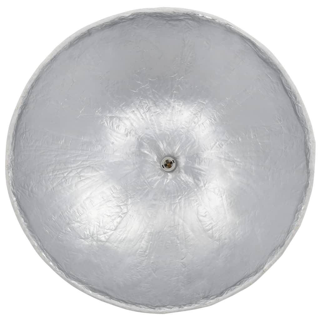 Hanglamp E27 Ø70 cm wit en zilver