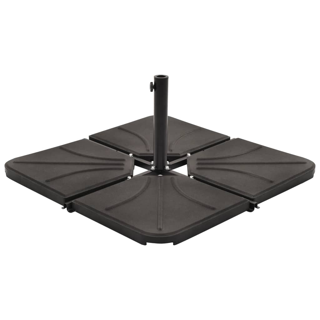 vidaXL Plăci de greutate umbrelă, 4 buc, negru, 72 kg, beton, pătrat imagine vidaxl.ro