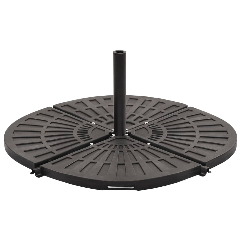 vidaXL Plăci de greutate umbrelă, 4 buc., negru, 56 kg, formă evantai imagine vidaxl.ro
