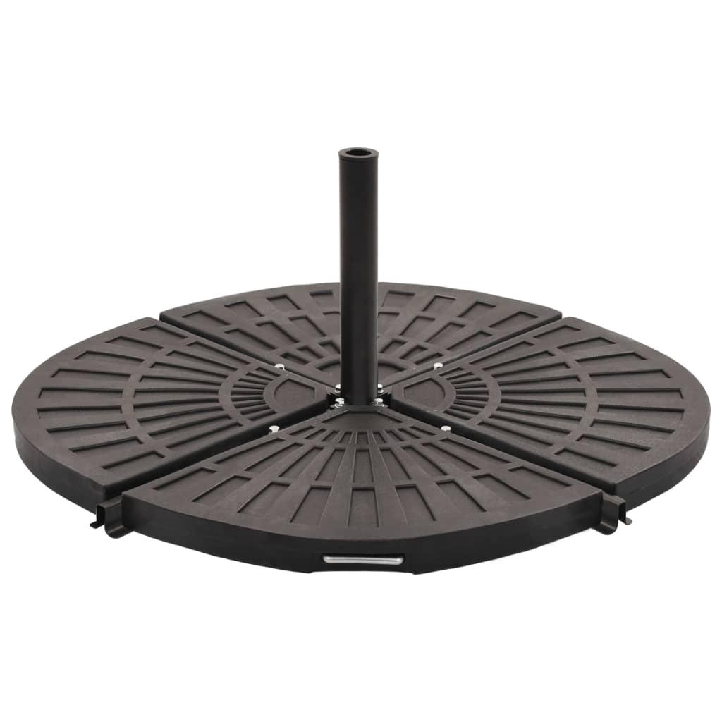 vidaXL Plăci de greutate umbrelă, 4 buc., negru, 80 kg, formă evantai imagine vidaxl.ro