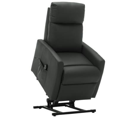 vidaXL Elektrické sklápacie TV kreslo s funkciou stand-up sivé umelá koža