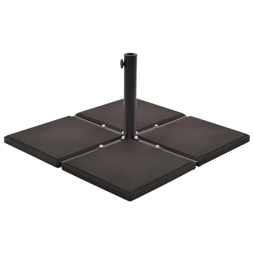 vidaXL Plăci de greutate umbrelă, 4 buc, negru, 48 kg, beton, pătrat imagine vidaxl.ro