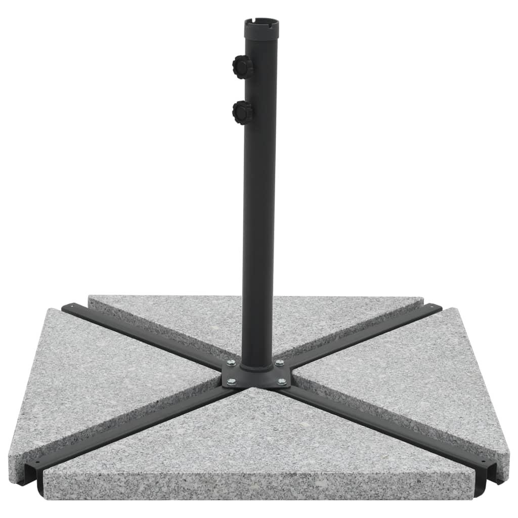 vidaXL Plăci de greutate umbrelă, 4 buc., gri, 60 kg, granit, triunghi vidaxl.ro