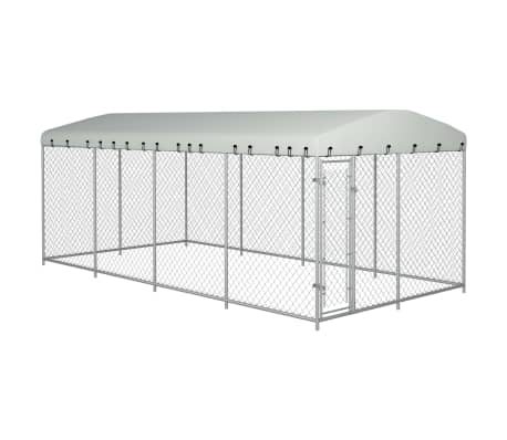 "vidaXL Outdoor Dog Kennel with Roof 315""x157.5""x78.7"""