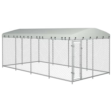 "vidaXL Outdoor Dog Kennel with Roof 315""x157.5""x78.7""[1/5]"