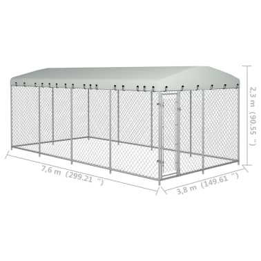 "vidaXL Outdoor Dog Kennel with Roof 315""x157.5""x78.7""[5/5]"