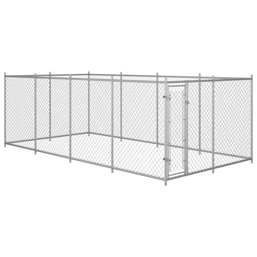 vidaXL Padoc pentru câini de exterior, 8 x 4 x 2 m imagine vidaxl.ro
