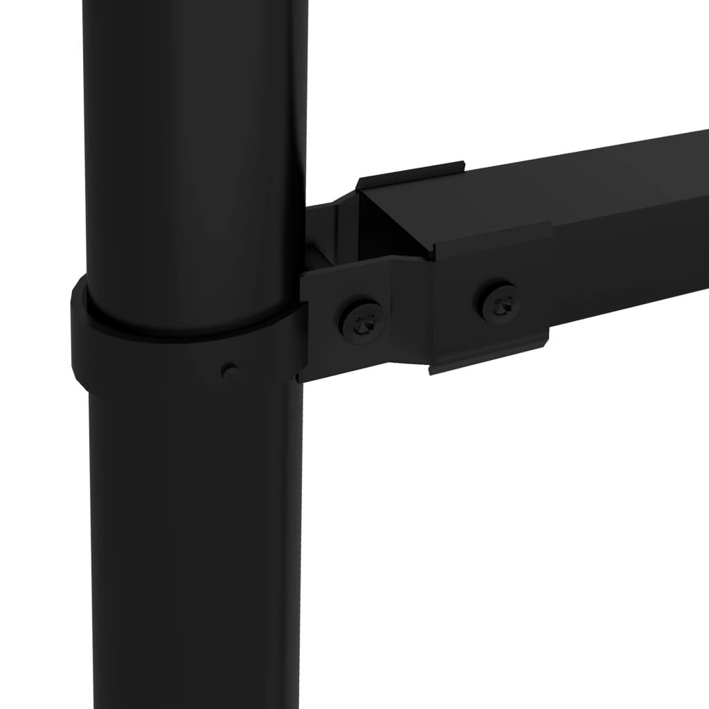 vidaXL Tuinhek met speren bovenkant (1,25-1,5)x1,7 m staal zwart
