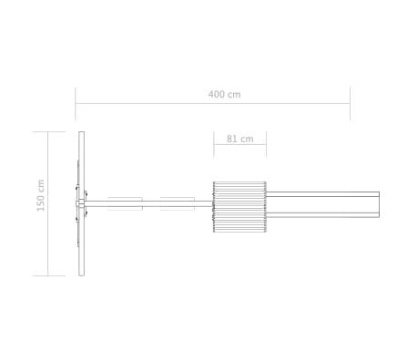vidaXL Parque infantil con escalera, tobogán y columpio de madera FSC[7/7]