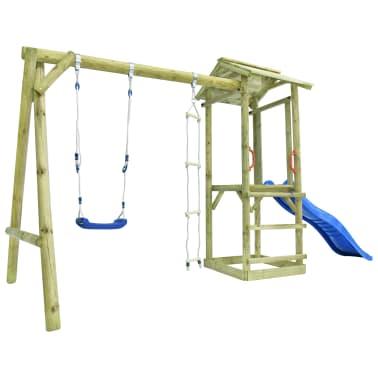 vidaXL Parque infantil con escalera, tobogán y columpio de madera FSC[2/7]