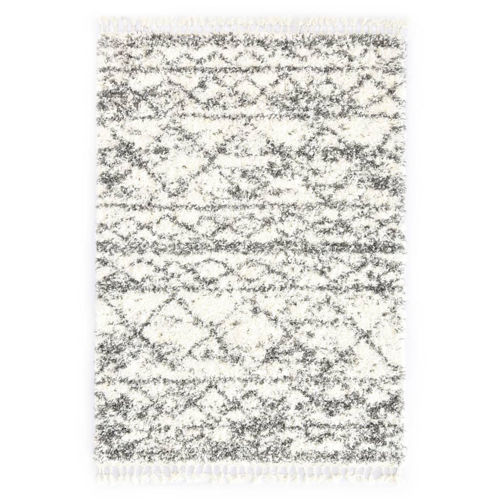 Berberteppich Hochflor PP Beige und Sandfarben 120 × 170 cm
