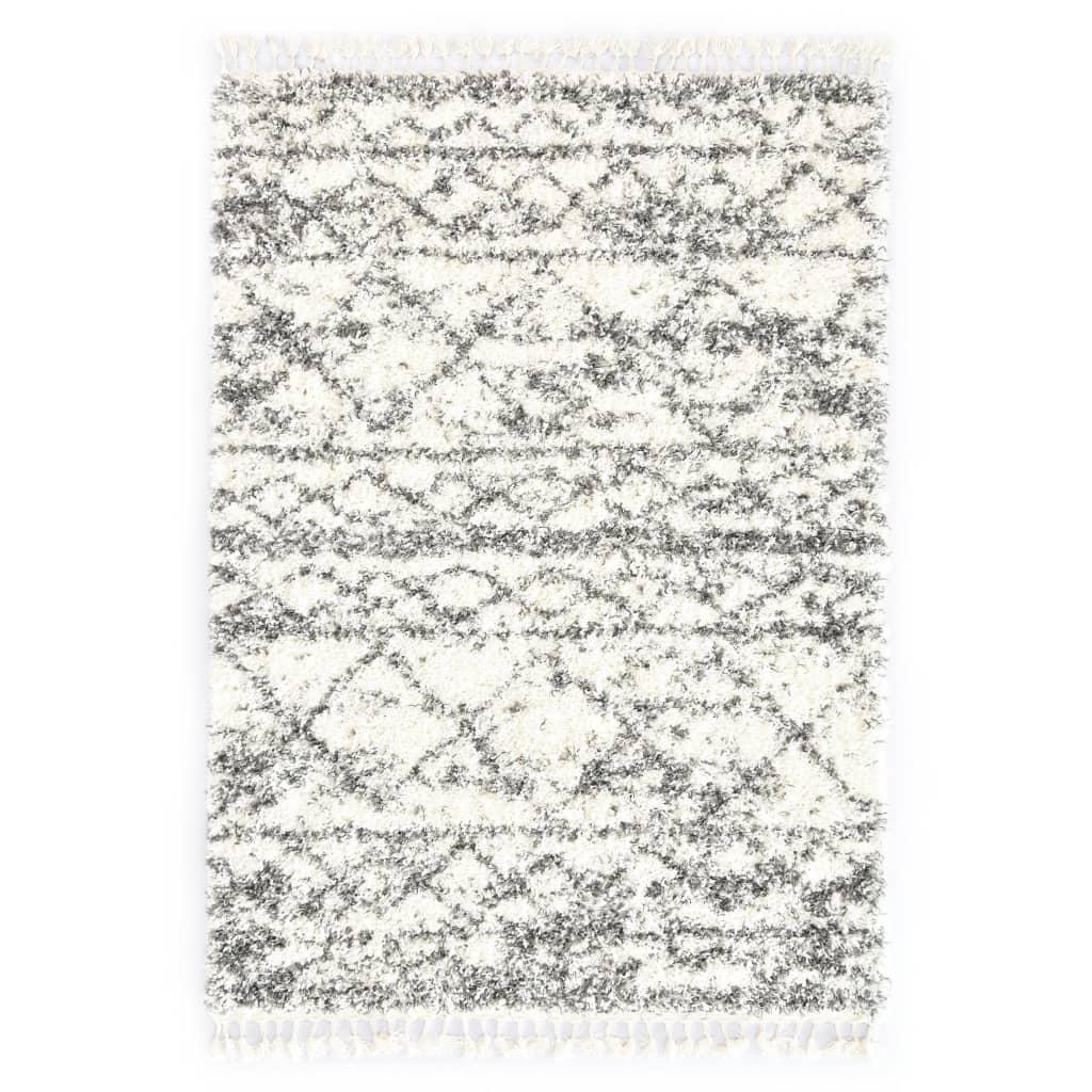 Berberteppich Hochflor PP Beige und Sandfarben 140 × 200 cm