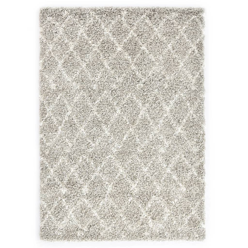 vidaXL Χαλί Berber Shaggy Χρώμα Άμμου / Μπεζ 80×150 εκ. Πολυπροπυλένιο