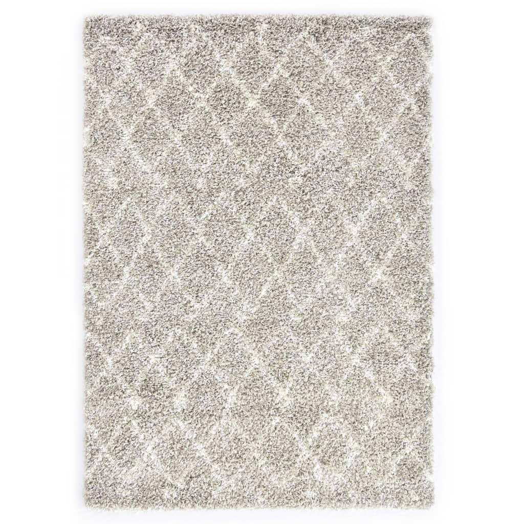 vidaXL Χαλί Berber Shaggy Χρώμα Άμμου/Μπεζ 140×200 εκ. Πολυπροπυλένιο