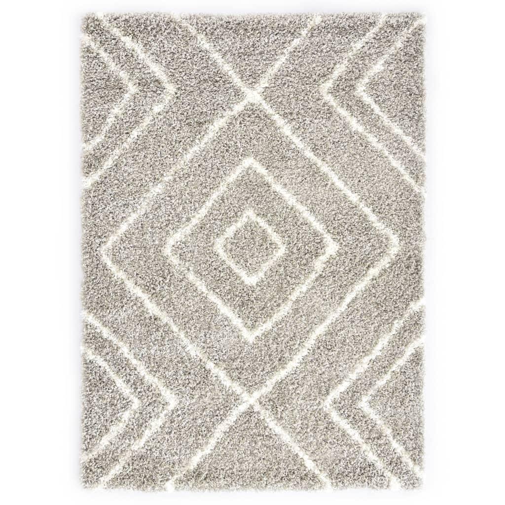Berberteppich Hochflor PP Sandfarben und Beige 80 × 150 cm