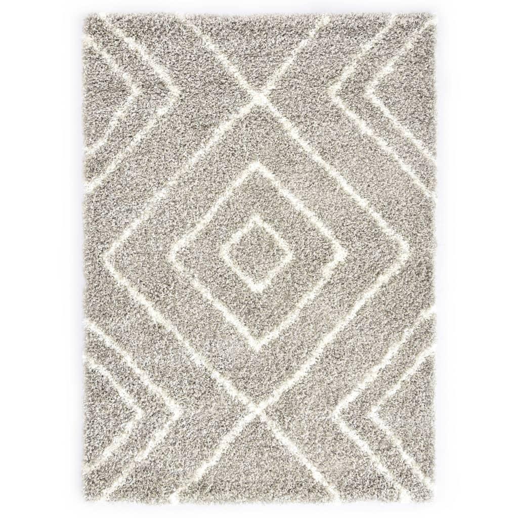 Berberteppich Hochflor PP Sandfarben und Beige 120 × 170 cm