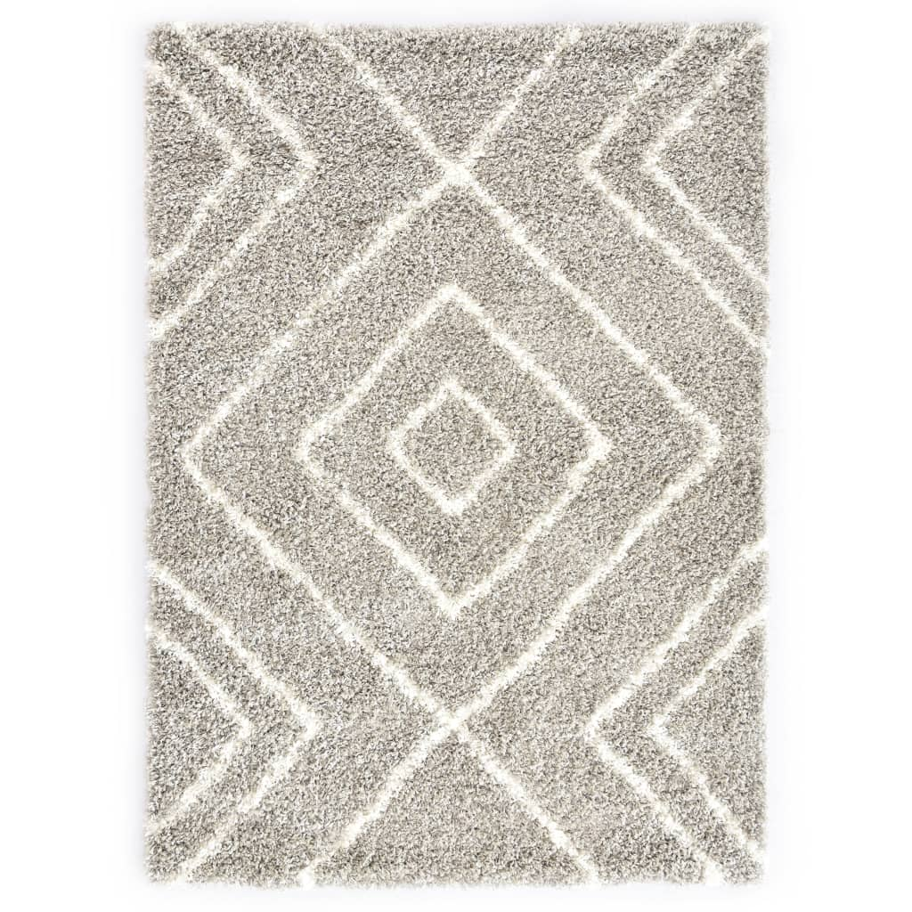 Berberteppich Hochflor PP Sandfarben und Beige 160 × 230 cm