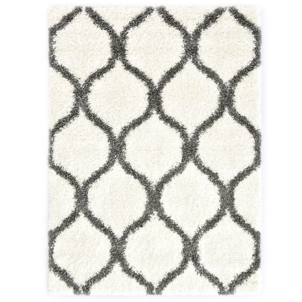 Berberteppich Hochflor PP Beige und Grau 80×150 cm