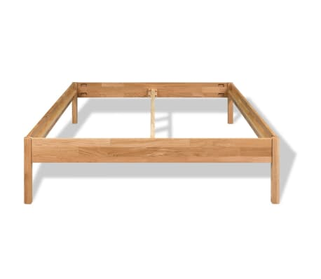 "vidaXL Bed Frame Solid Oak Wood 59.8""x79.9""[3/8]"