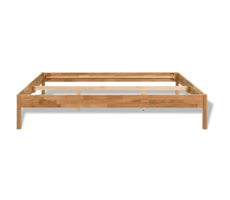 "vidaXL Bed Frame Solid Oak Wood 59.8""x79.9""[4/8]"