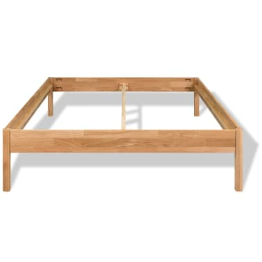 "vidaXL Bed Frame Solid Oak Wood 59.8""x79.9""[3/8]"