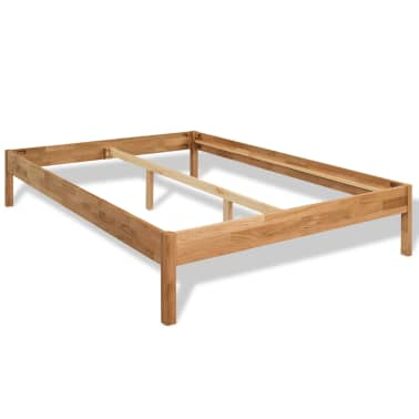 "vidaXL Bed Frame Solid Oak Wood 76""x79.9""[2/8]"