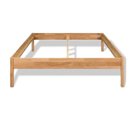 "vidaXL Bed Frame Solid Oak Wood 76""x79.9""[3/8]"