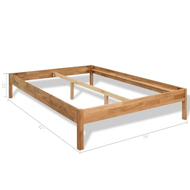 "vidaXL Bed Frame Solid Oak Wood 76""x79.9""[8/8]"