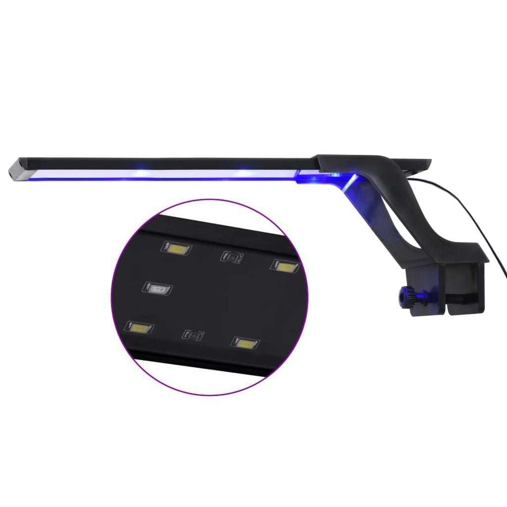 vidaXL Lampă LED pentru acvariu, cu clemă, albastru/alb, 35-55 cm poza vidaxl.ro