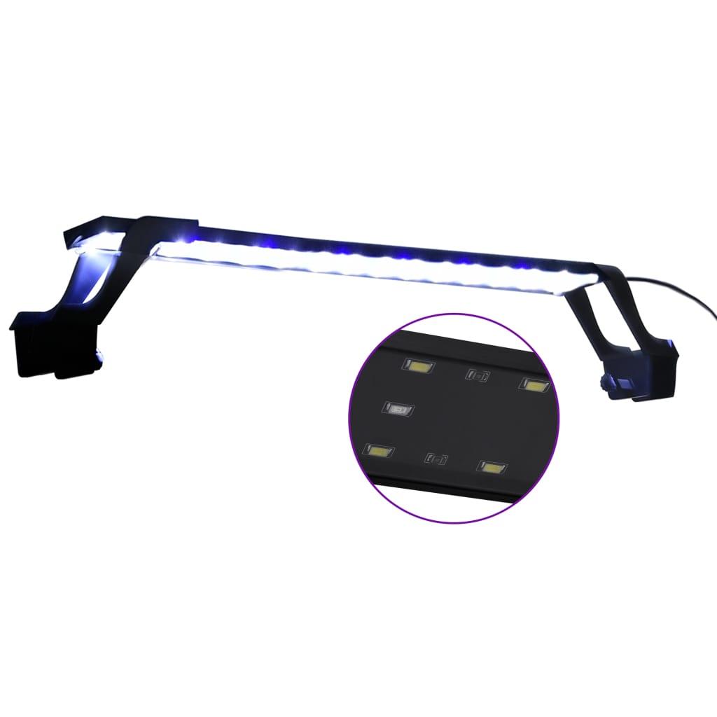 Lampa LED do akwarium, z zaciskami, 55-70 cm, niebiesko-biała