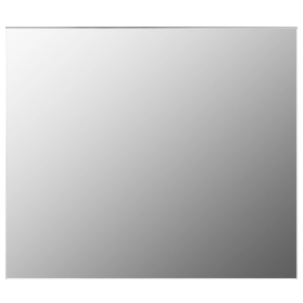 Zrcadlo bez rámu 80 x 60 cm sklo