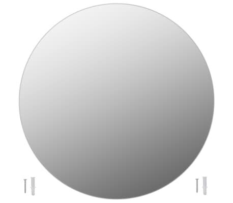 vidaXL Bezrámové zrkadlo okrúhle 80 cm sklo