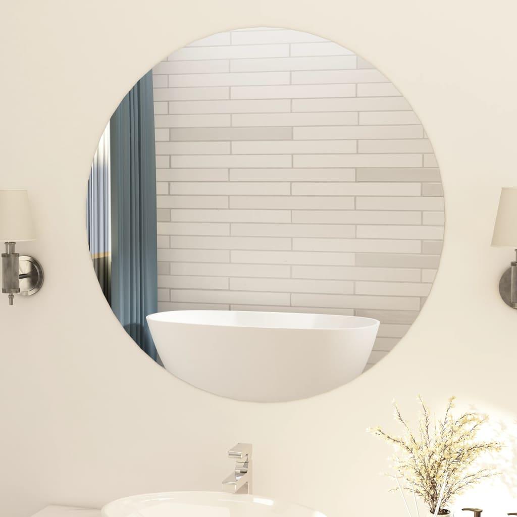 vidaXL Oglindă fără ramă, 90 cm, sticlă, rotund poza vidaxl.ro