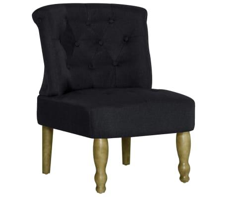 vidaXL Πολυθρόνα Γαλλικού Στιλ Μαύρη Υφασμάτινη