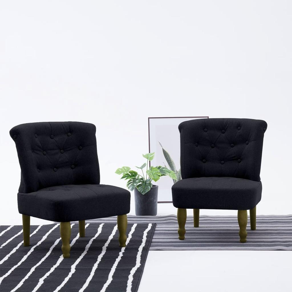 vidaXL Francouzské křeslo černé textil