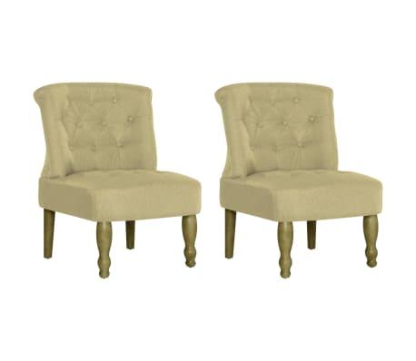 vidaXL Prantsuse toolid 2 tk, roheline, kangas