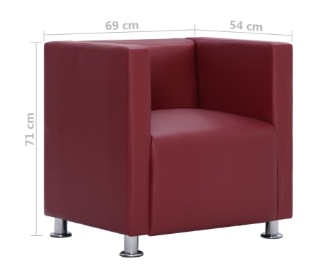 Détails sur vidaXL Fauteuil Cube Similicuir Chaise Meuble Siège de Salon Multicolore
