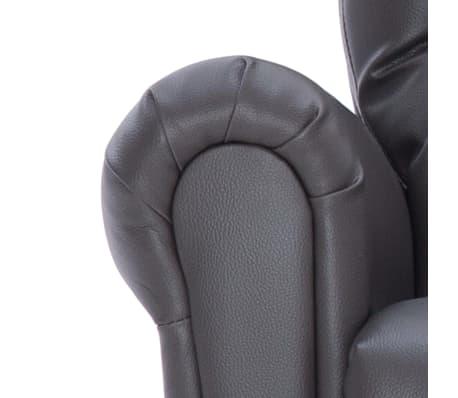 vidaXL Atlošiamas masažinis krėslas, pilkos spalvos, dirbtinė oda[8/14]