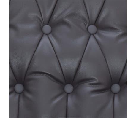 vidaXL Atlošiamas masažinis krėslas, pilkos spalvos, dirbtinė oda[10/14]
