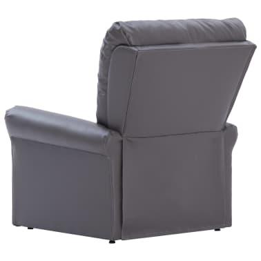 vidaXL Atlošiamas masažinis krėslas, pilkos spalvos, dirbtinė oda[5/14]