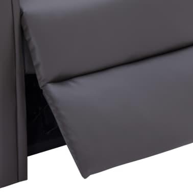 vidaXL Atlošiamas masažinis krėslas, pilkos spalvos, dirbtinė oda[9/14]